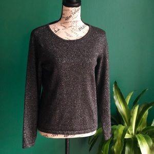 [Talbots] Black -Sparkly Wool Sweater